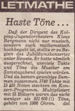 Kommentar Jahreskonzert 1987