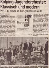 Vorschau Jahreskonzert 1988